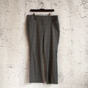 NEW YORK AND CO GREY PLAID TROUSERS 12P